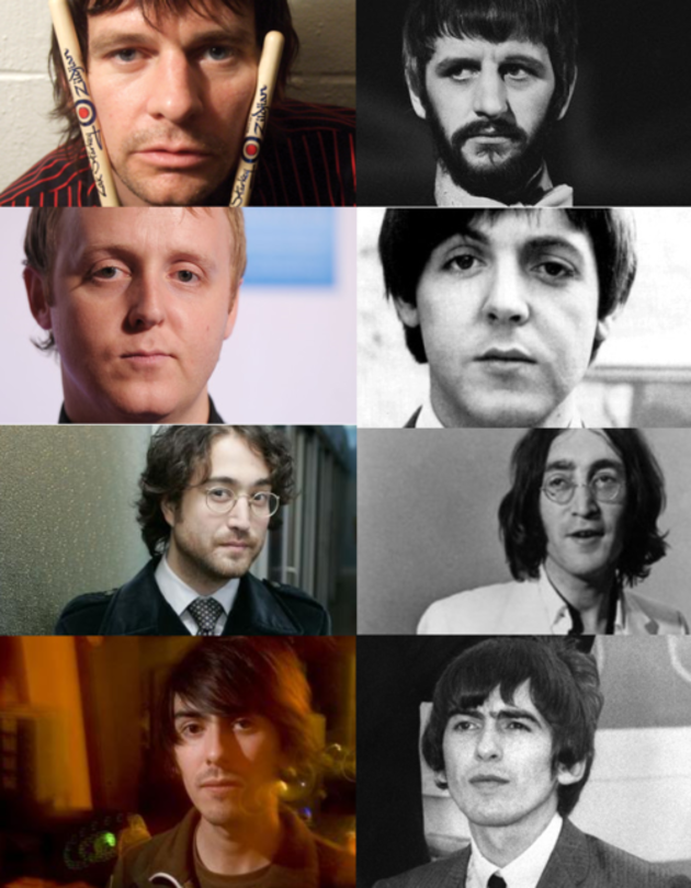 Pic The Beatles And Their Sons Newstalk