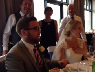 Amazing singing flash mob at Irish wedding perform a song from Rent