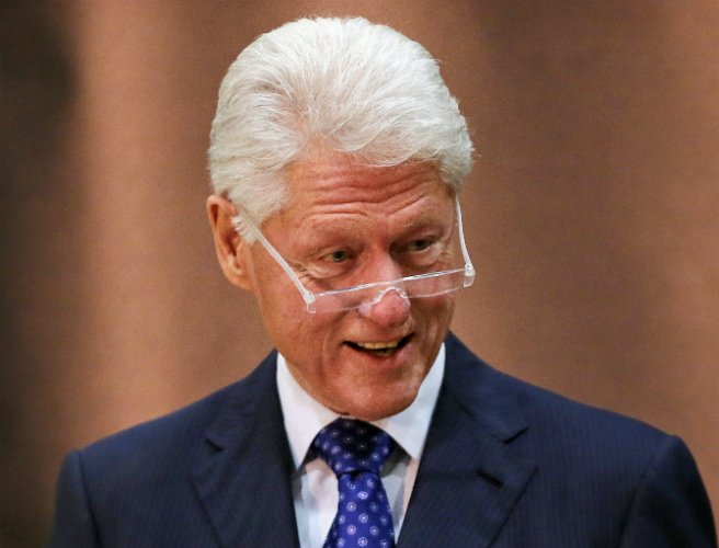 Bill Clinton holds first solo event as part of his wife Hillary's presidential campaign
