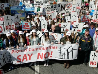 Residents against wind farms protest in Kilkenny