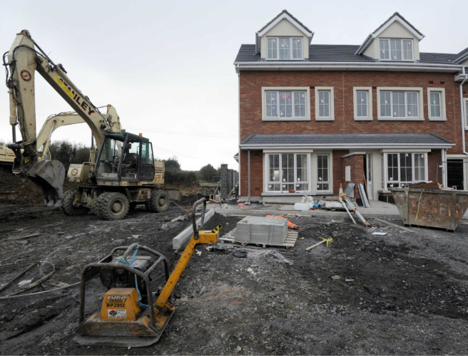 Irish construction surged in March