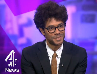 Watch comedian Richard Ayoade take a different approach to a TV interview