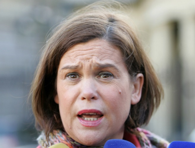 "Mary Lou McDonald: Sinn Féin won't be ""mudguard"" for FF or FG coalition"