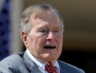 Former US President George Bush Snr taken to hospital after experiencing shortness of breath