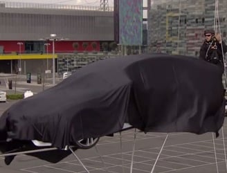 VIDEO: A strange and spectacular way to show off a new car