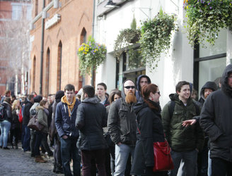 Crowds pack Temple Bar as thousands audition to be Vikings extras