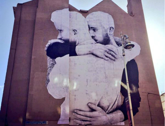 Artist behind marriage equality mural unveils latest work in Belfast
