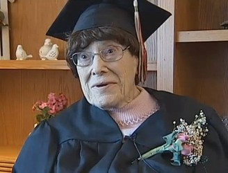 WATCH: After dropping out in 1928, this 103-year-old woman just finished school