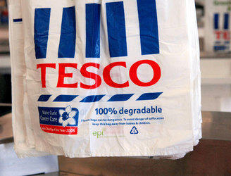 Tesco reports its first increase in sales in four years