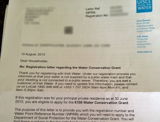 Putting Irish Water bills on hold could cost €20m