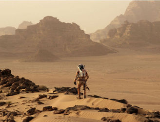 """The Martian"" gets recut as a comedy-musical to match it's Golden Globe win"