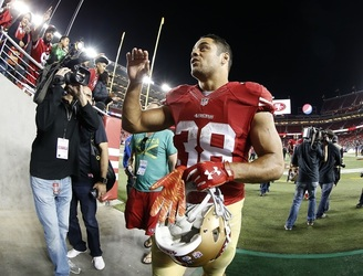 Despite having his own tribute song, Jarryd Hayne has been cut from the San Francisco 49ers squad