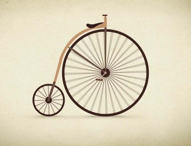 Bike, Bicycle, Visual Artwork, Evolution
