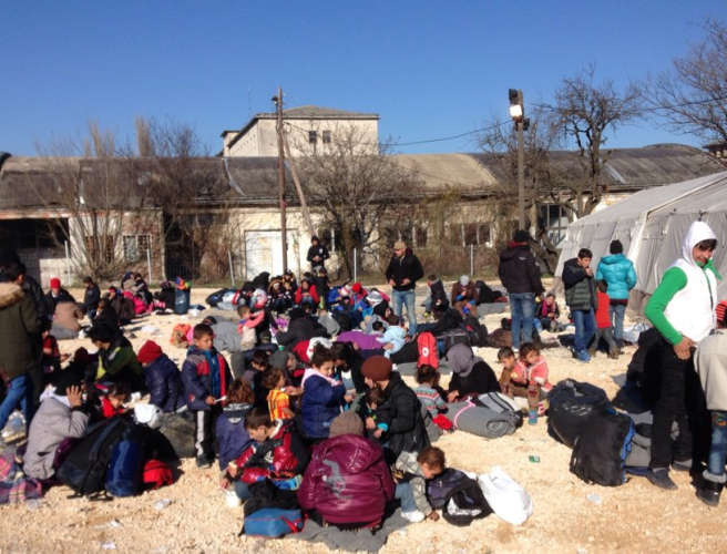 """We have crossed a lot of countries"" - Chris Donoghue reports from refugee camps in Serbia and Croatia"