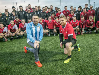 Robbie Keane and Damien Duff return to college to complete their coaching badges