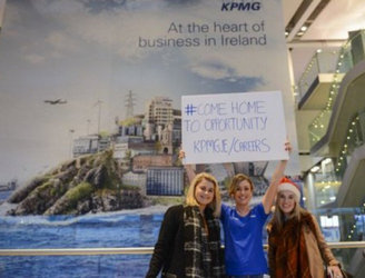 KPMG is trying to recruit Irish emigrants at Dublin Airport