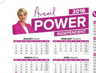 Independent senator Averil Power printed 73,000 calendars at taxpayer's expense