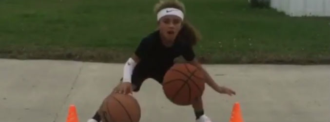 A 6-year-old girl is wowing America with her basketball skills