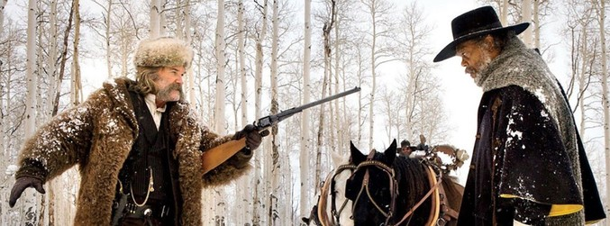 Hateful Eight, Quentin Tarantino, Jennifer Jason Leigh, Samuel L Jackson, Kurt Russell