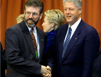 "Bill Clinton expressed concern over ""real deal"" between Gerry Adams and the IRA"