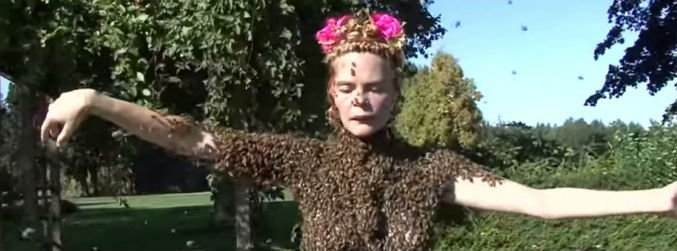 The Bee Queen and her blouse of live bees
