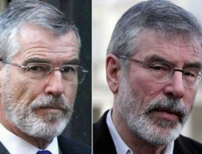Pierce Brosnan looks very like Gerry Adams for his latest film