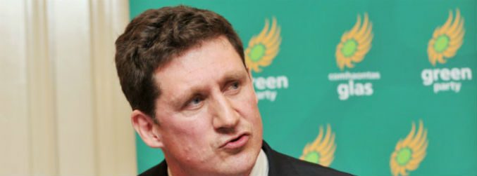 Eamon Ryan calls for election debate on global warming in speech to party convention
