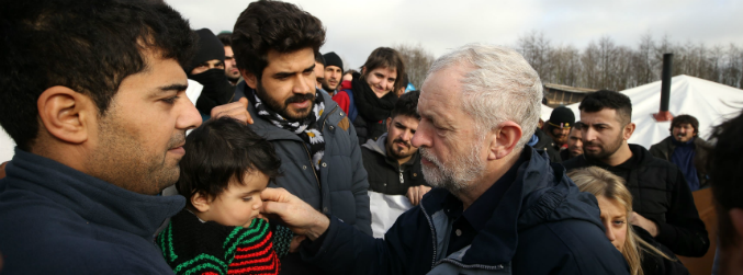 "Corbyn describes conditions at Dunkirk refugee camp as ""shameful"""