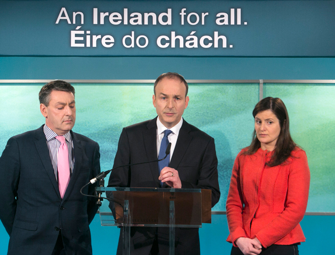 Micheal Martin, Fianna Fail, GE16, bin charges, Alan Kelly, taxes, Barry Cowen