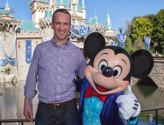 Peyton Manning celebrates Super Bowl win with a trip to Disneyland