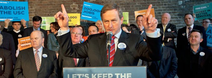 Enda Kenny, GE16, Fine Gael, Fianna Fail, general election, Dublin