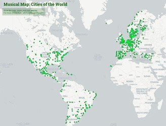 Listen to the every city's favourite songs with Spotify's interactive map of the world