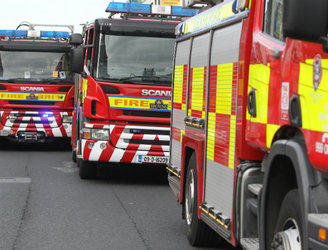 Dublin Fire Brigade fighting blaze in Inchicore