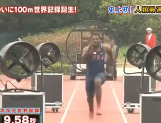 "WATCH: Justin Gatlin ""breaks"" Usain Bolt's 100 metre record on Japanese TV"