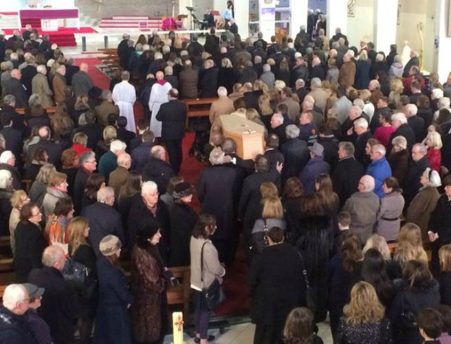 """It'll be the first time anyone ever told St Peter to feck off"" - Frank Kelly's son tells mourners"