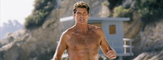 David Hasselhoff, Baywatch, The Rock, Dwayne Johnson,