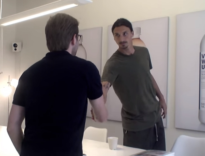 WATCH: Zlatan Ibrahimovic surprises job applicant by grilling him in awkward interview