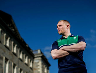 Keith Earls picks out the Italian players to guard against at the Aviva