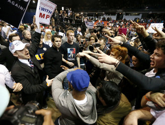 Five policemen suspended over assault at Trump rally