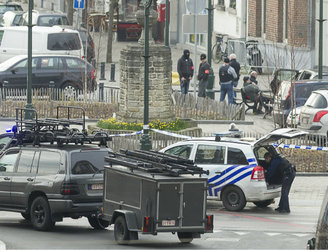 Islamic State flag found at terror raid scene in Brussels