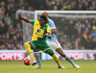 Norwich striker Dieumerci Mbokani unharmed after being caught up in Brussels attacks
