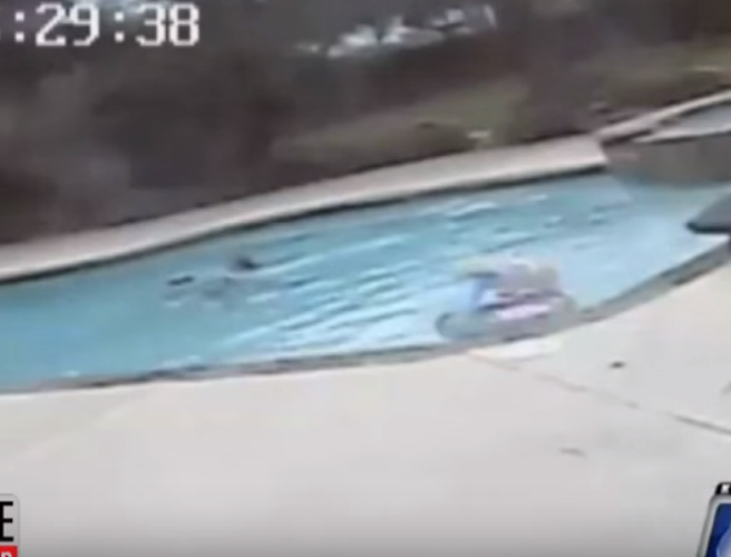 WATCH: Five-year-old girl jumps into pool to save mum who had suffered a seizure
