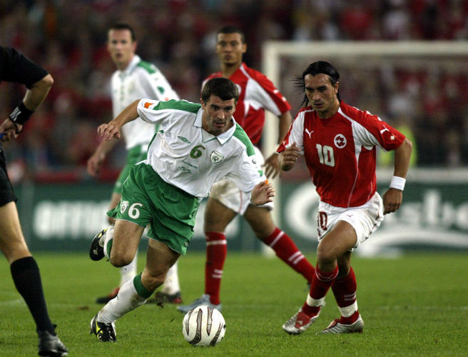 Roy Keane, Hakan Yakin, Ireland, Switzerland