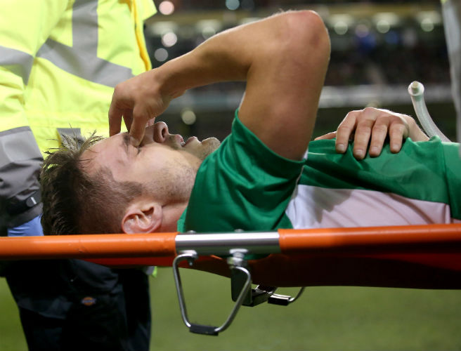 Kevin Doyle has posted an extremely gruesome photo of the leg gash he suffered tonight