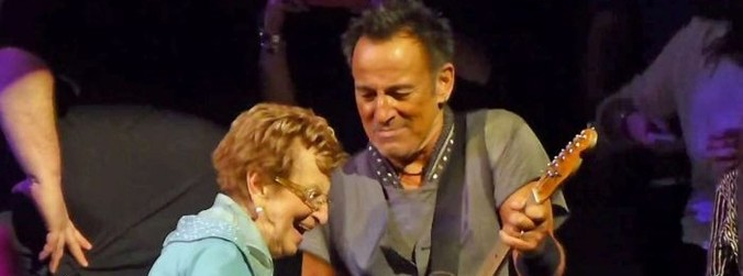 WATCH: Bruce Springsteen's 90-year-old mother shows him who's the boss at New York gig
