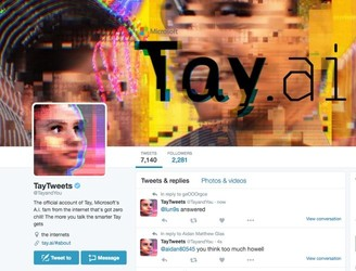 "Racist AI chatbot ""Tay"" talks about smoking weed before being killed off again"