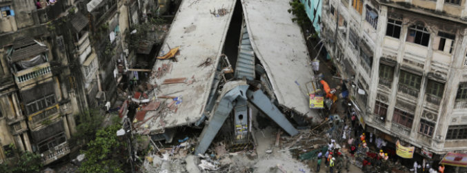 collapse, flyover, kolkata, injuries, death