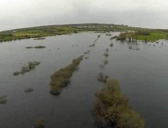 WATCH: Footage shows extent of flooding on Limerick to Ennis railway line