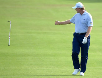 WATCH: It's anything but a magnificent seven as Ernie Els has a nightmare on the first at the Masters