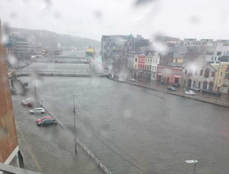 WATCH: Cork hit by flooding following downpour